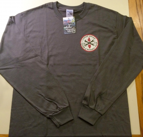 Pontiac Garage Long Sleeve Shirt in Charcoal Front